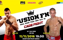 Ducár vs Bartek na FUSION FN9: CAGE FIGHT